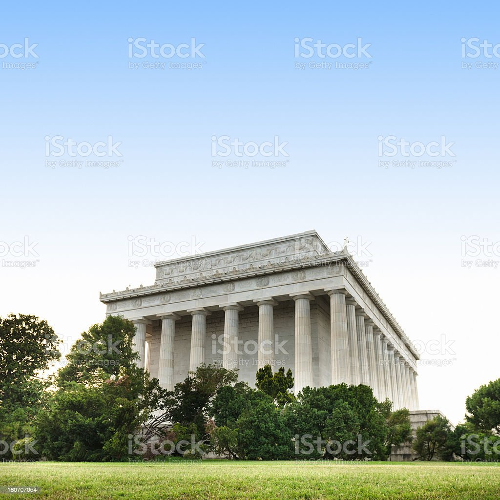 Lincoln Memorial in washington DC - USA royalty-free stock photo