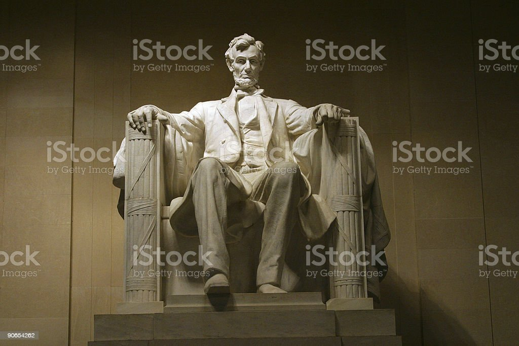 Lincoln memorial in white marble stock photo