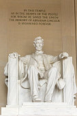 Lincoln Memorial inside view and inscription