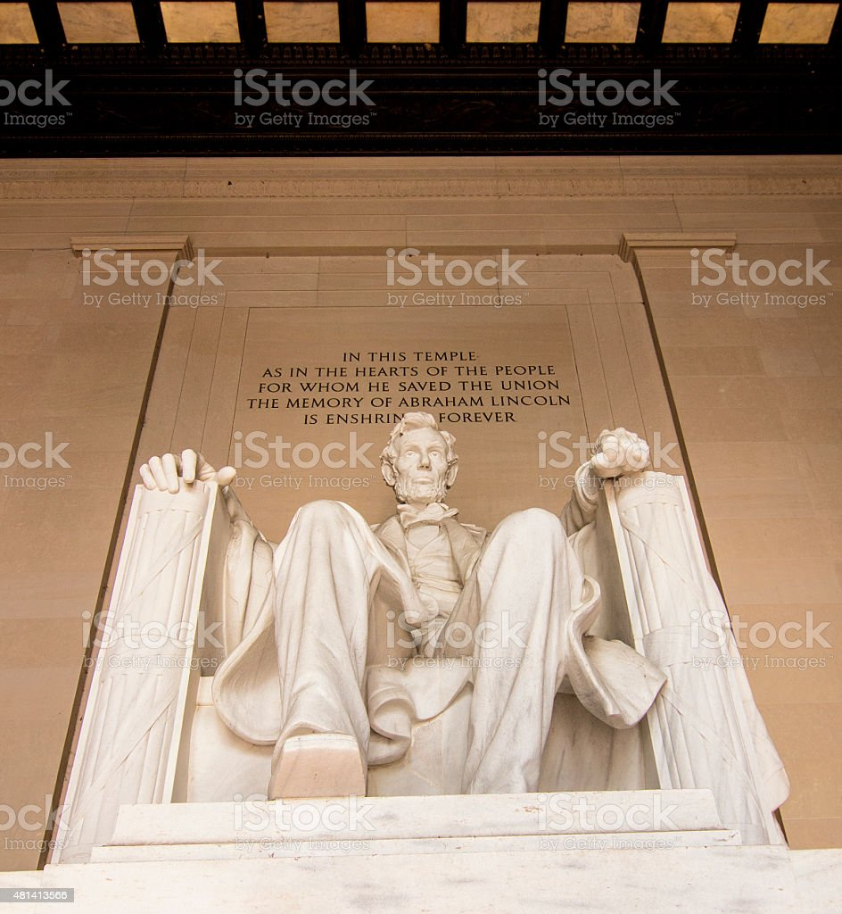 Lincoln Memorial- national monument in Washington DC United States stock photo