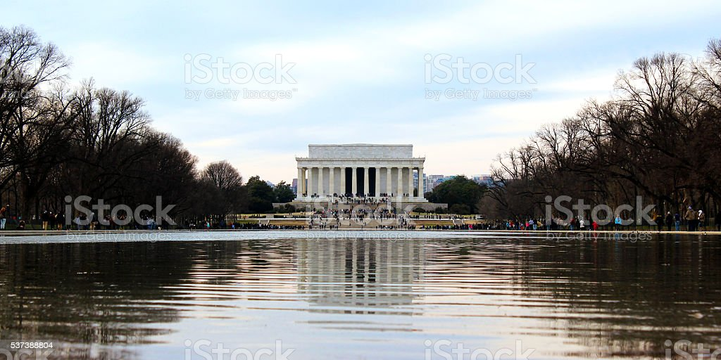 Lincoln Memorial Over The Reflecting Pool stock photo