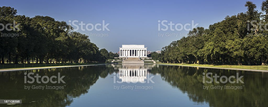 Lincoln Memorial panoramic royalty-free stock photo