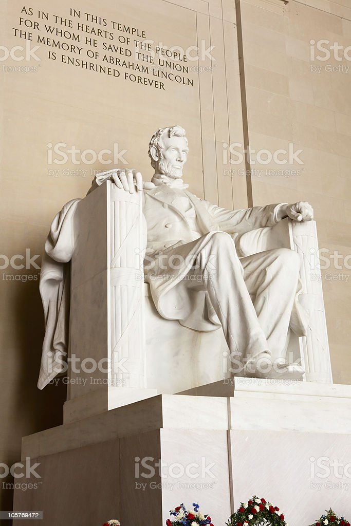 Lincoln Memorial (Right Side Close-Up) stock photo