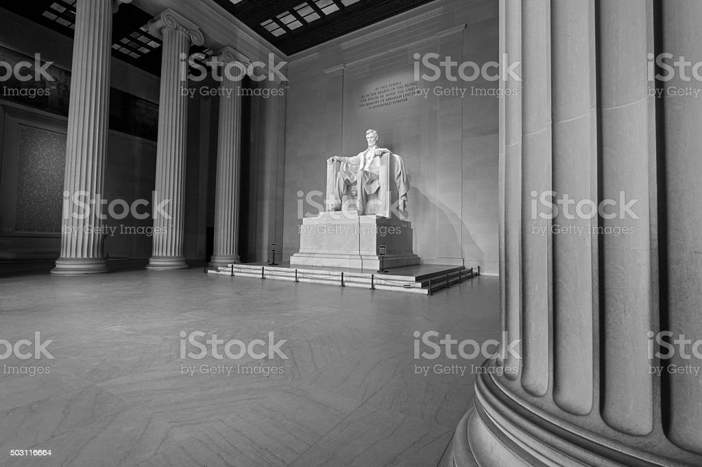 Lincoln Memorial stock photo