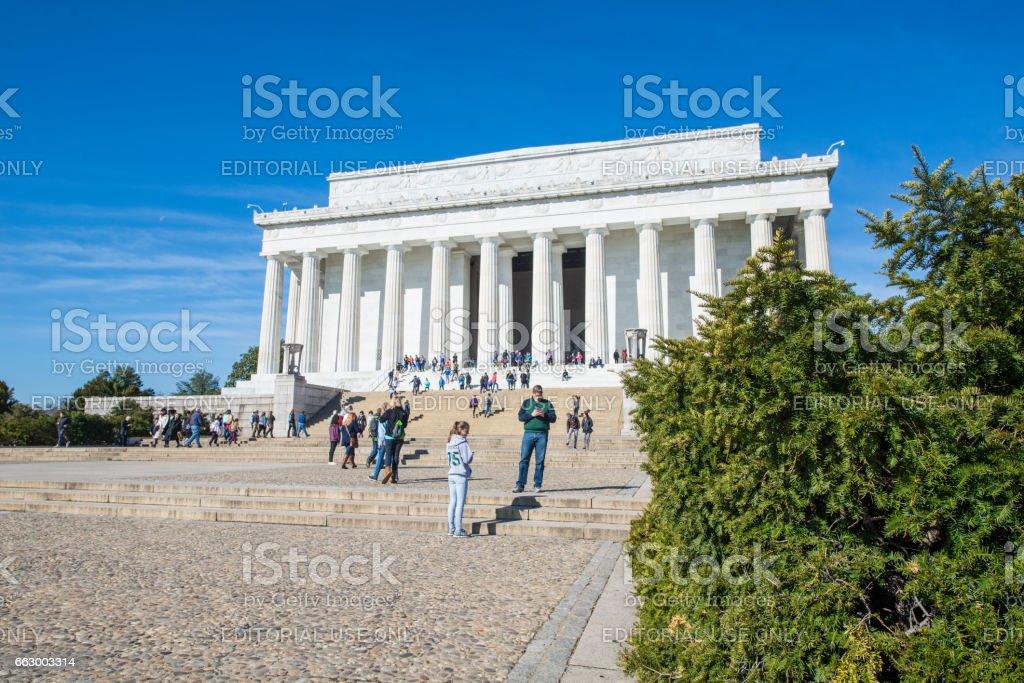 Lincoln Memorial stock photo