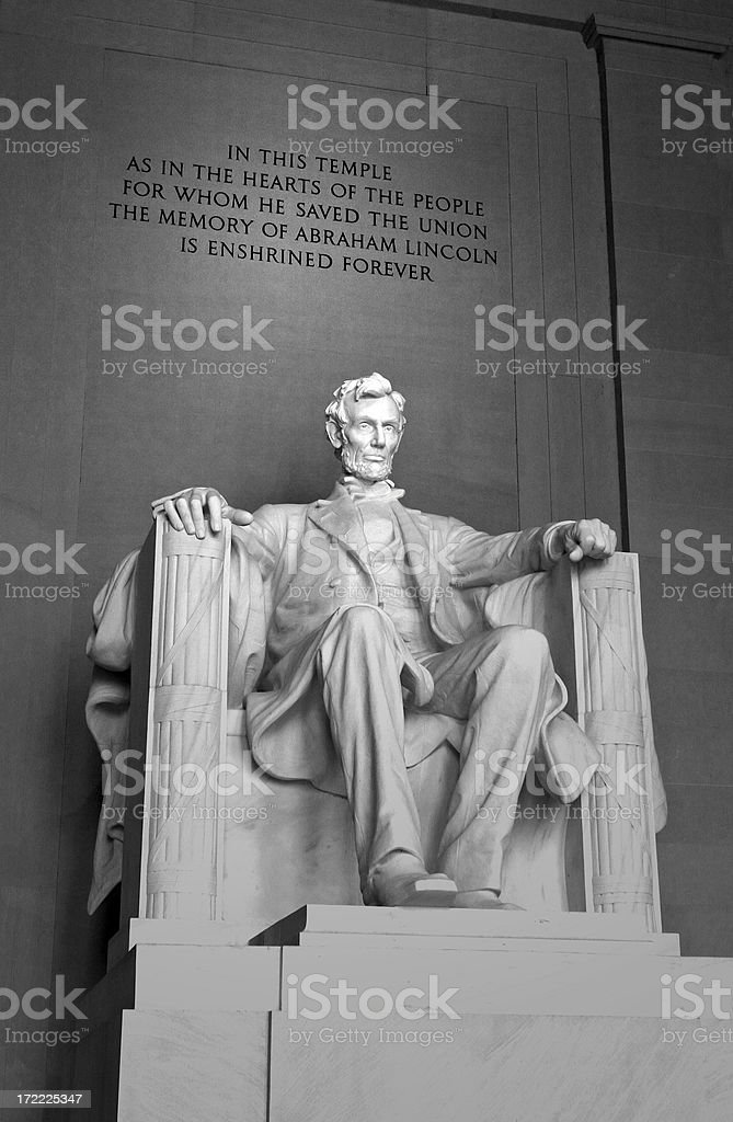 Lincoln Memorial Statue royalty-free stock photo