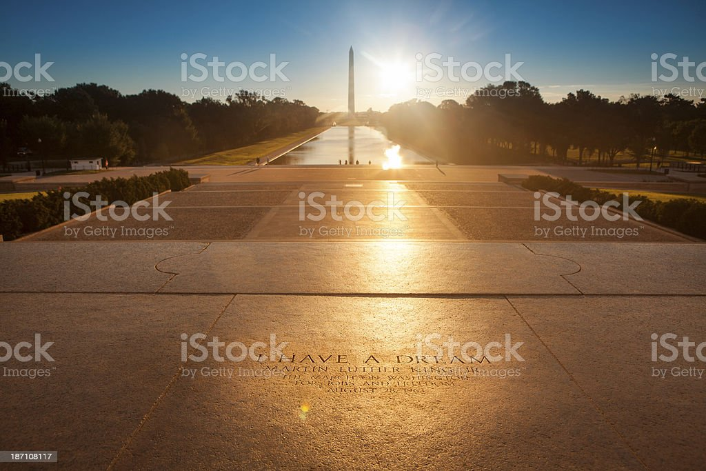 Lincoln Memorial steps stock photo