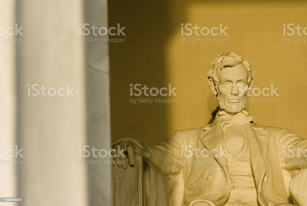 Lincoln Memorial sunrise Washington DC travel series royalty-free stock photo