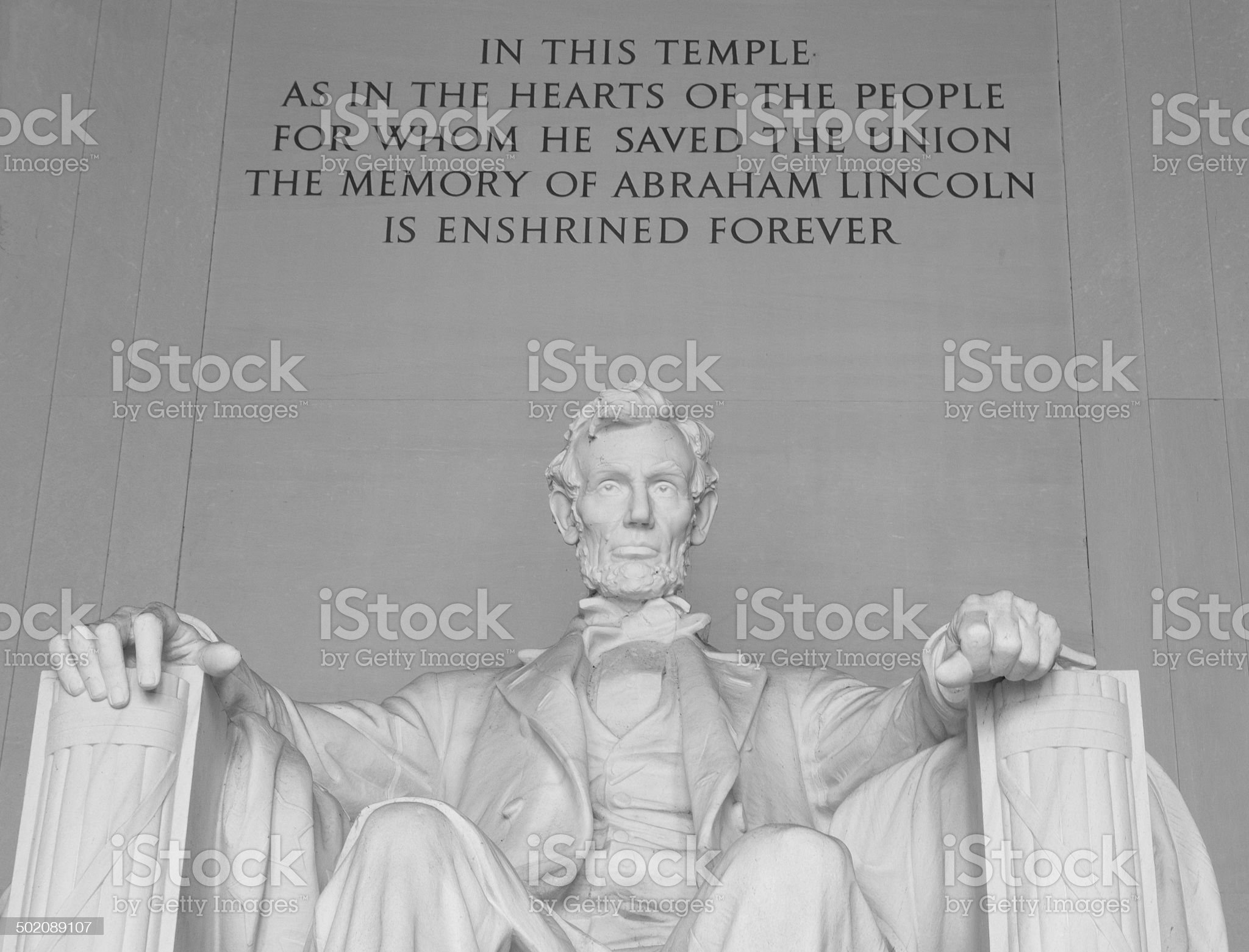 Lincoln Memorial with Quote royalty-free stock photo