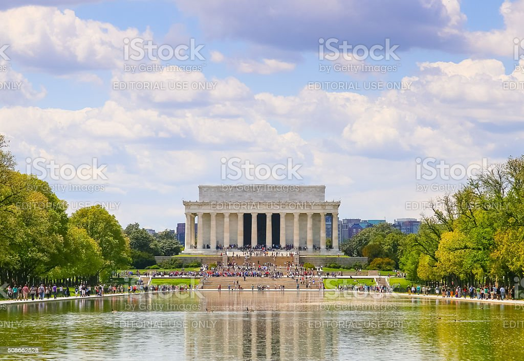 Lincoln Memorial with Reflection stock photo