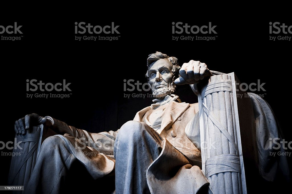 Lincoln Monument Closeup stock photo