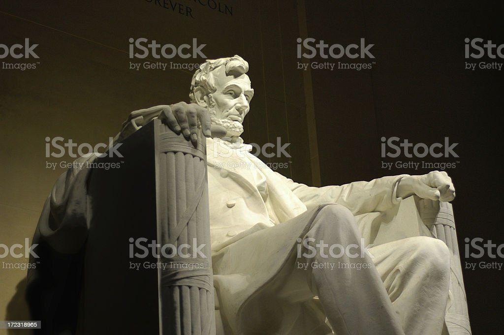 Lincoln Monument in Washington D.C. stock photo