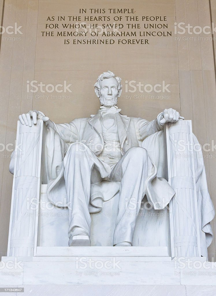 Lincoln Monument, Washington DC royalty-free stock photo