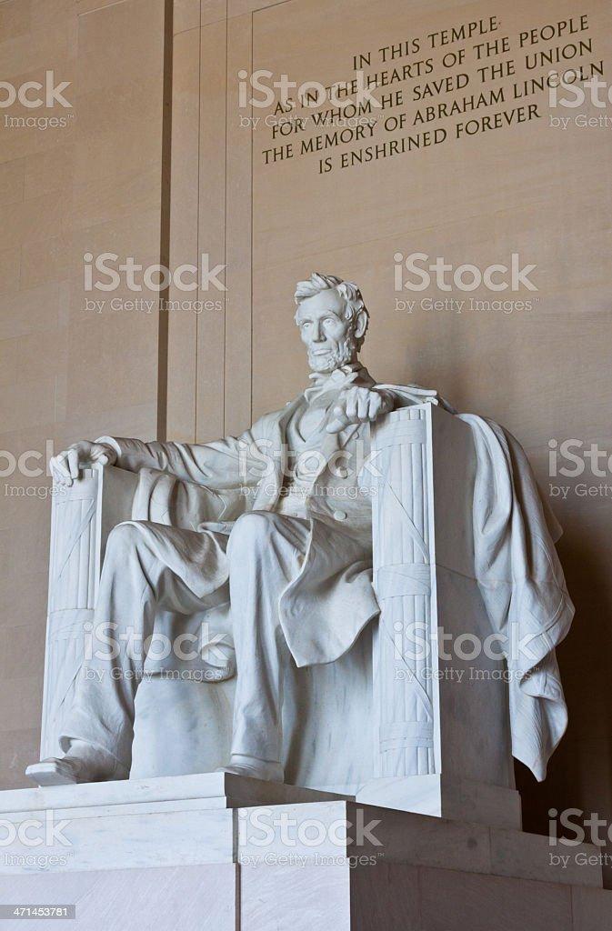 Lincoln Monument, Washington DC royalty-free stock photo