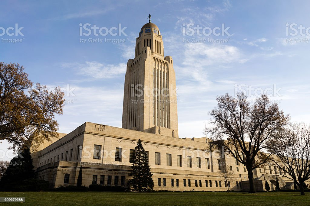 Lincoln Nebraska Capital Building Government Dome Architecture stock photo