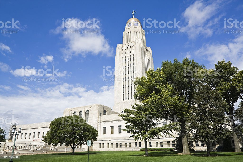 Lincoln, Nebraska - State Capitol Building stock photo