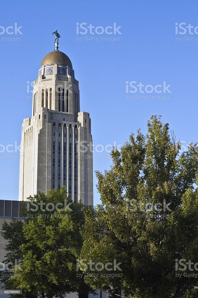 Lincoln, Nebraska - State Capitol royalty-free stock photo