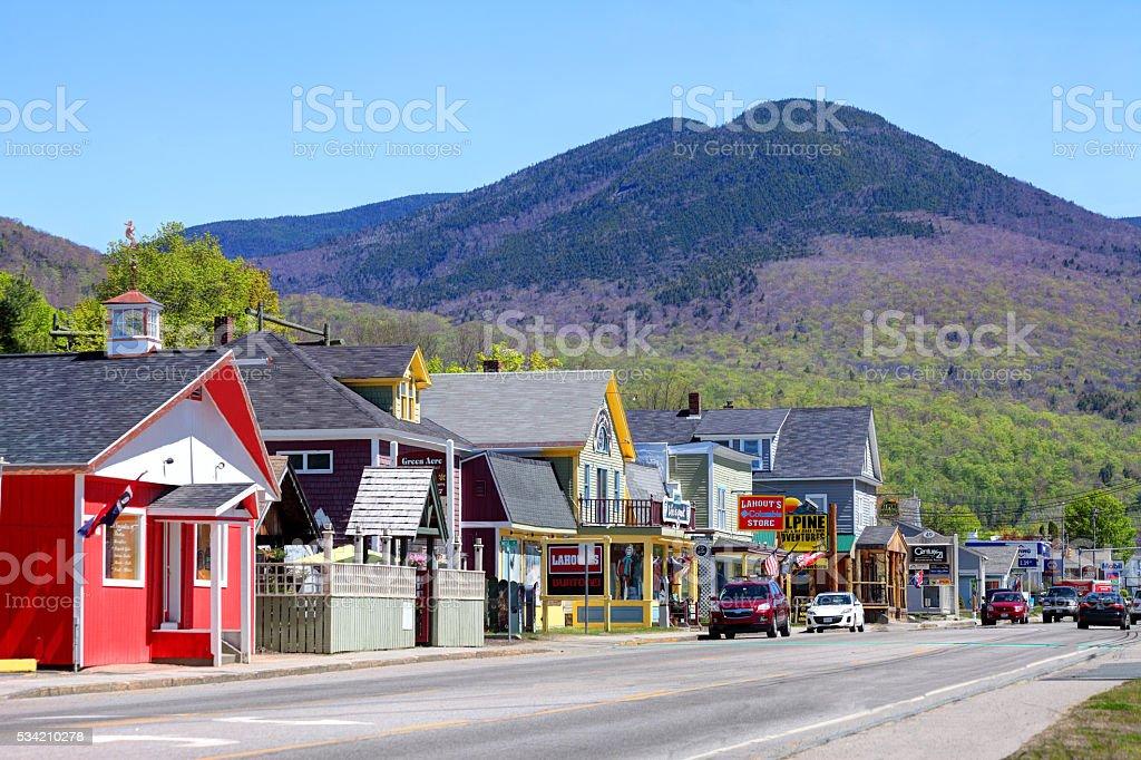 Lincoln, New Hampshire stock photo