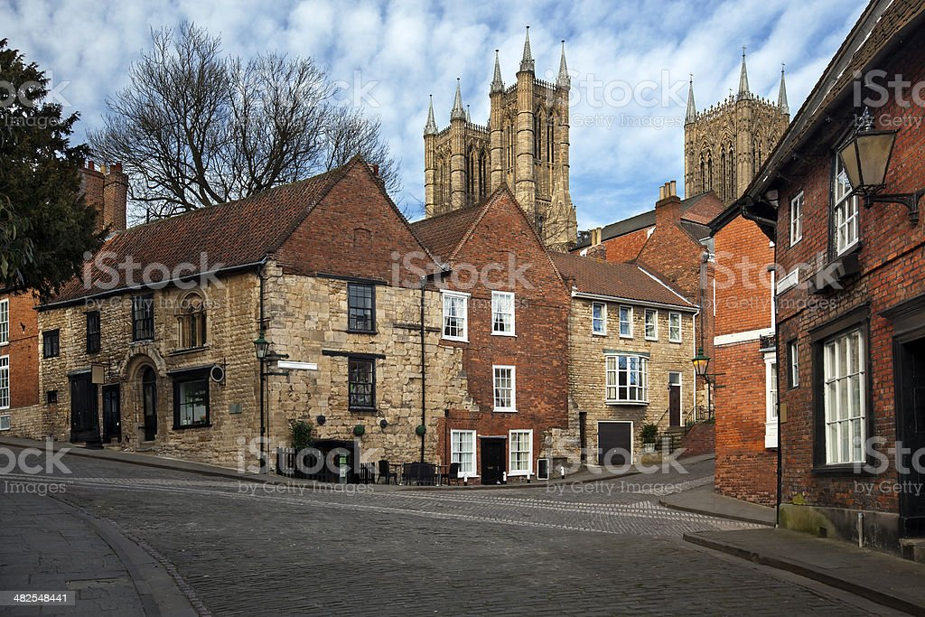 Lincoln - Norman House on Steep Hill royalty-free stock photo