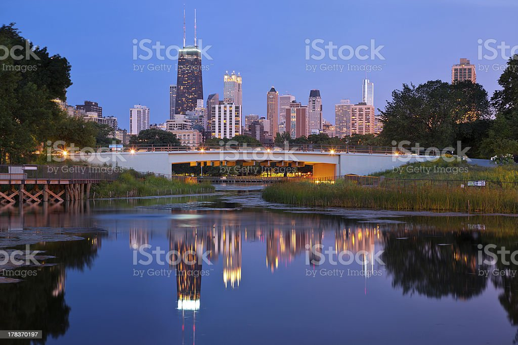 Lincoln Park, Chicago. stock photo