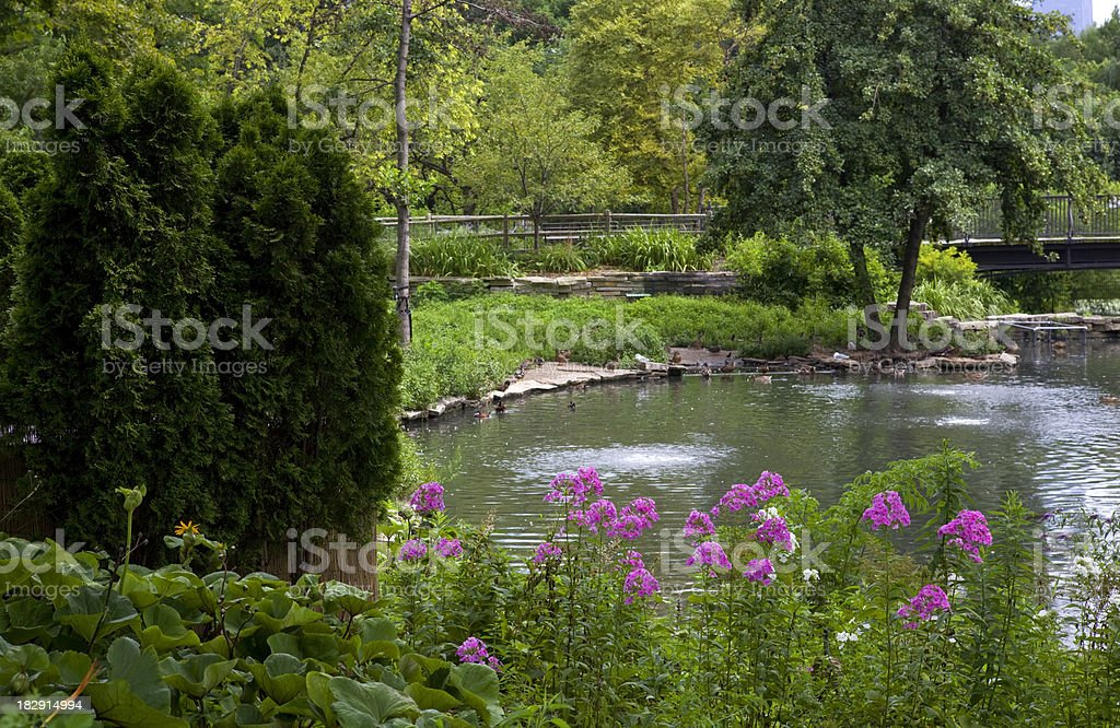 Lincoln Park in Chicago stock photo