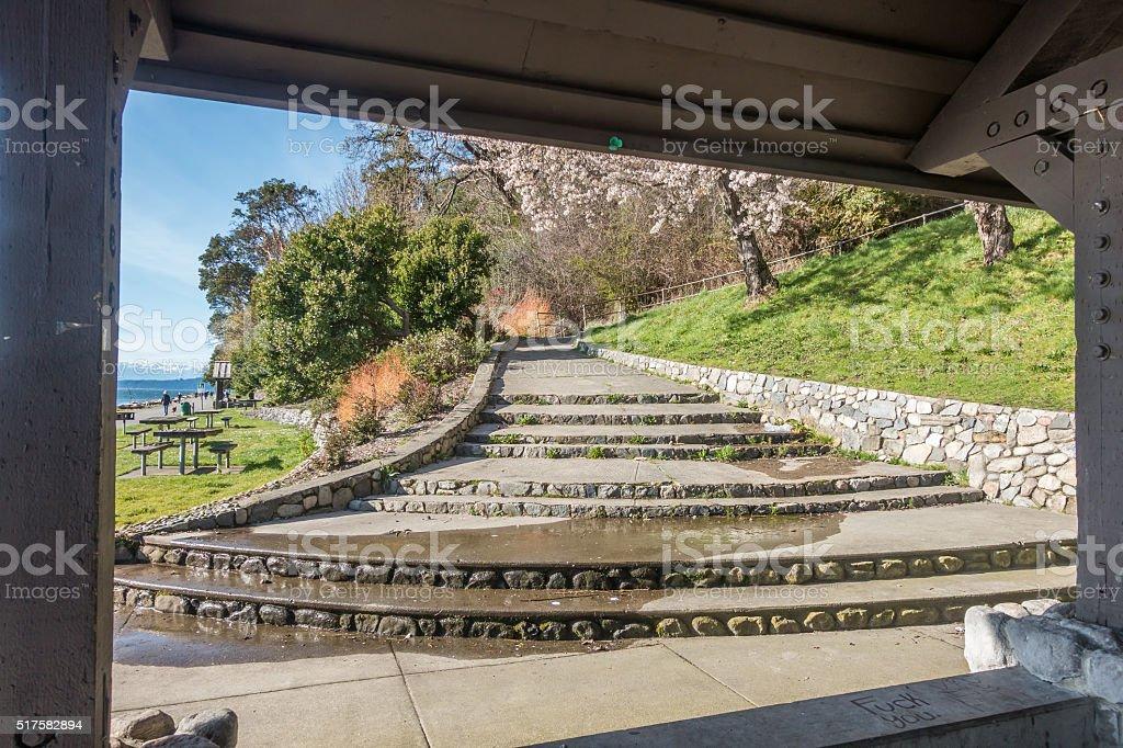 Lincoln Park Steps 3 stock photo