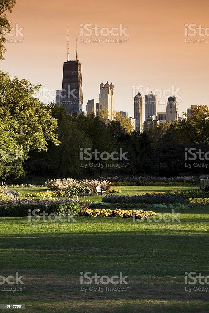 Lincoln Park vista stock photo
