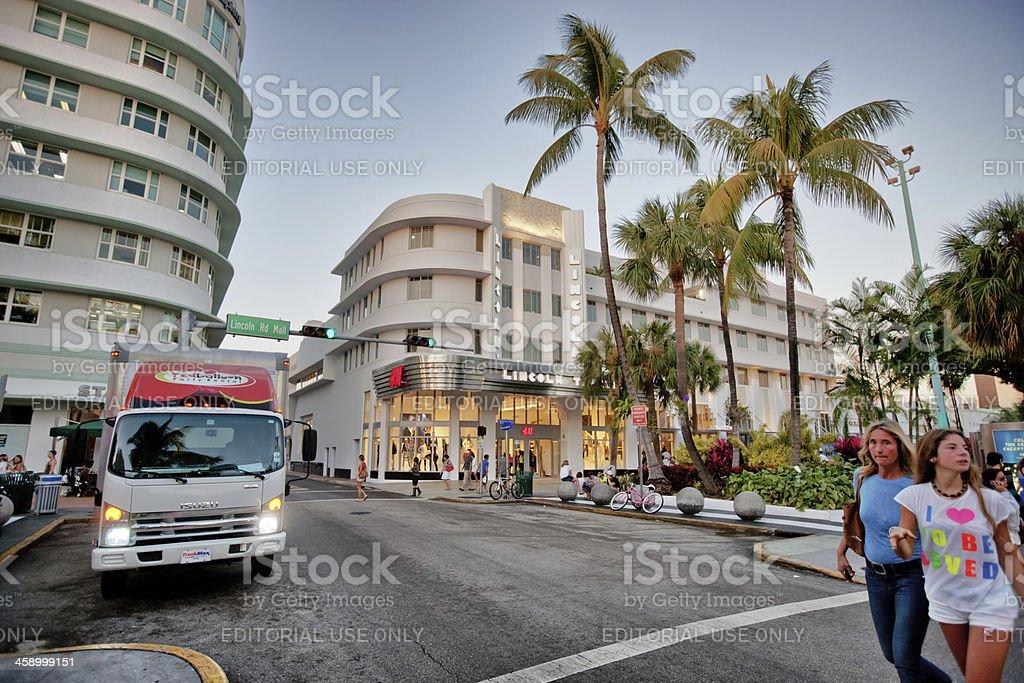 Lincoln Road Mall, Miami Beach, USA royalty-free stock photo