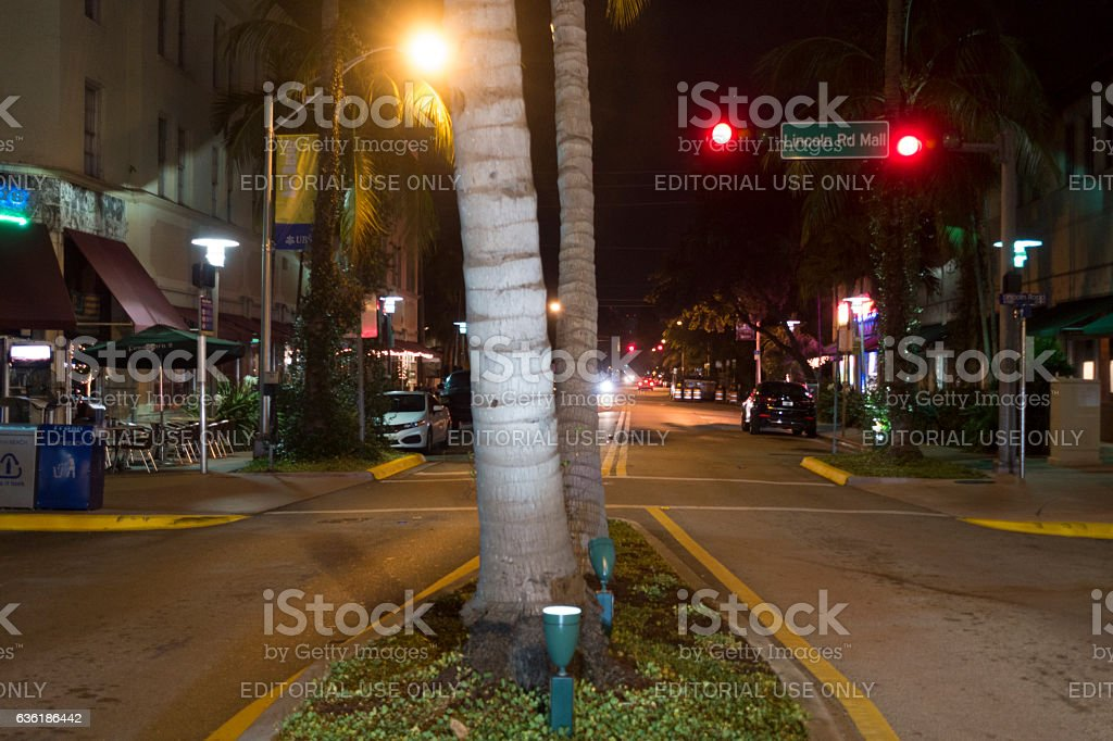 Lincoln Road Mall Street stock photo