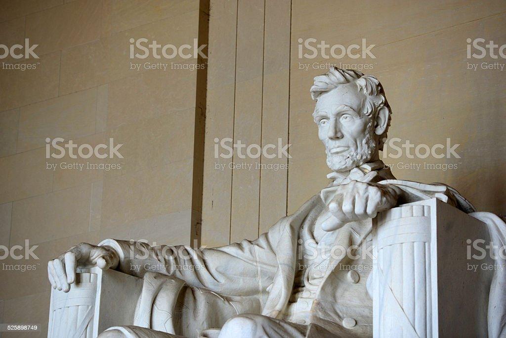 Lincoln Statue in Lincoln Memorial, Washington stock photo