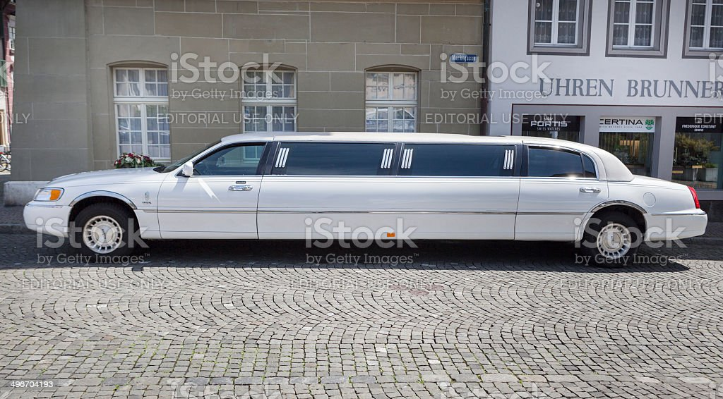 Lincoln stretch limousine stock photo