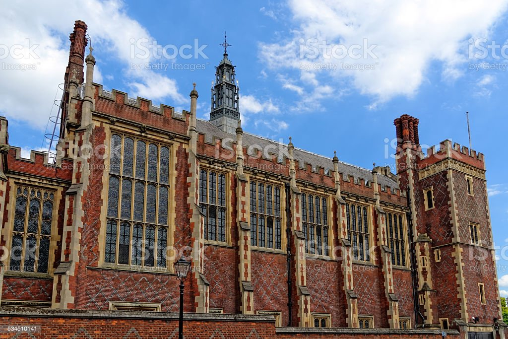Lincoln's Inn Court in London stock photo
