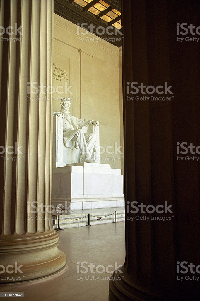 Lincoln's Statue stock photo