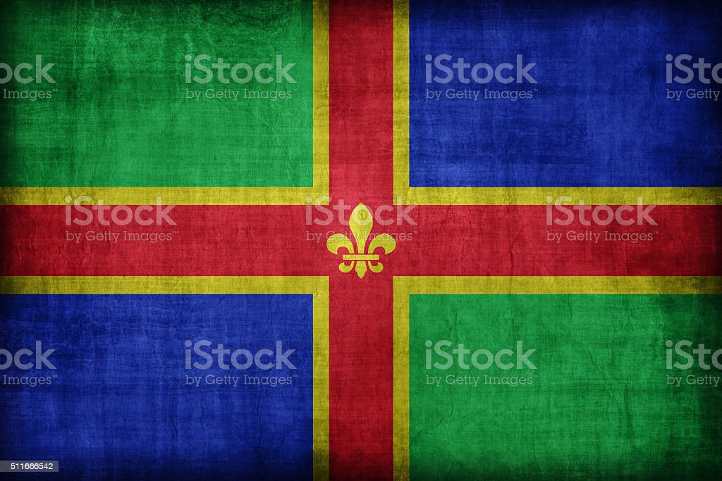 Lincolnshire flag pattern, retro vintage style stock photo
