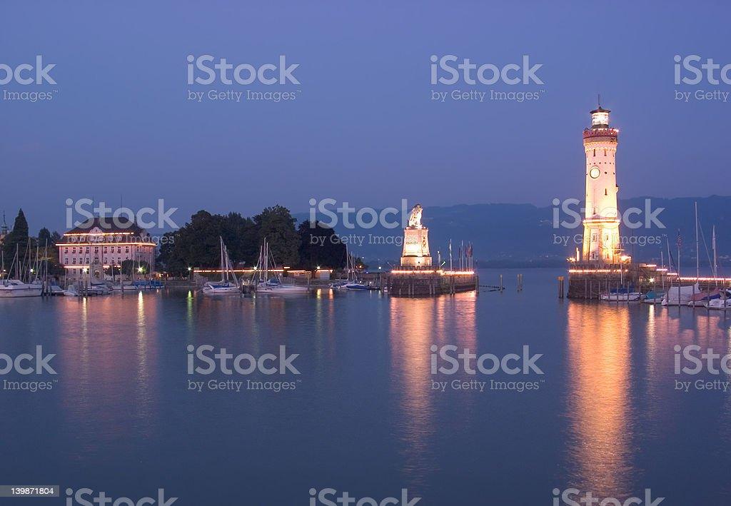 Lindau Harbour royalty-free stock photo