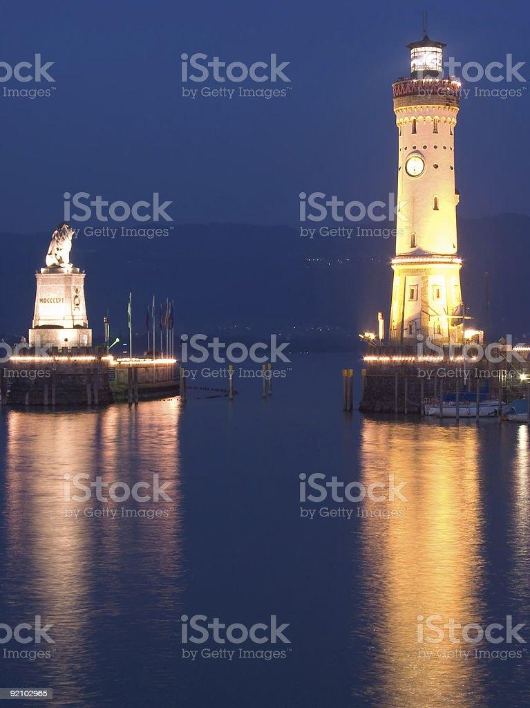 Lindau Lighthouse Portrait royalty-free stock photo