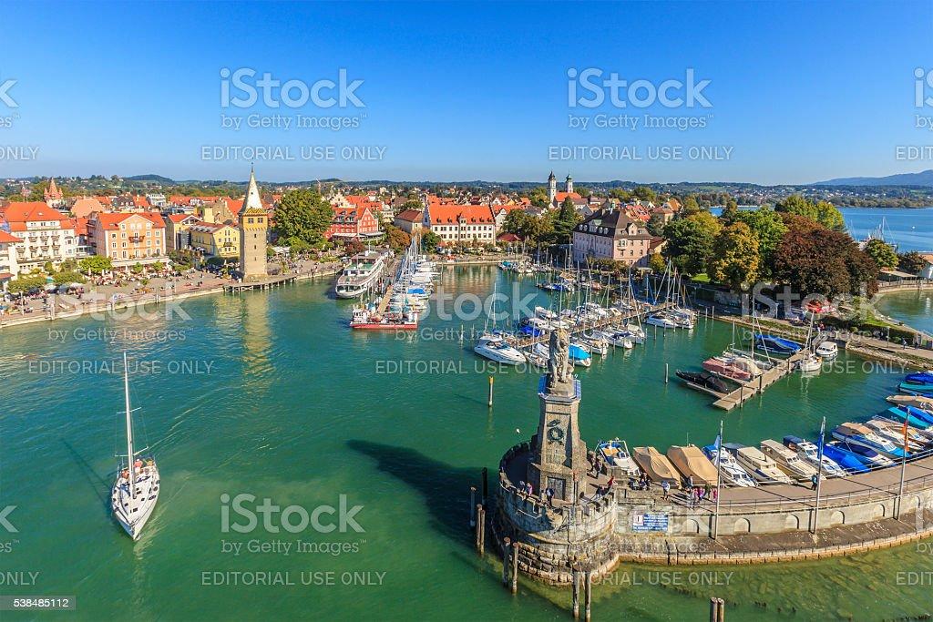 Lindau, the Harbor - Germany stock photo