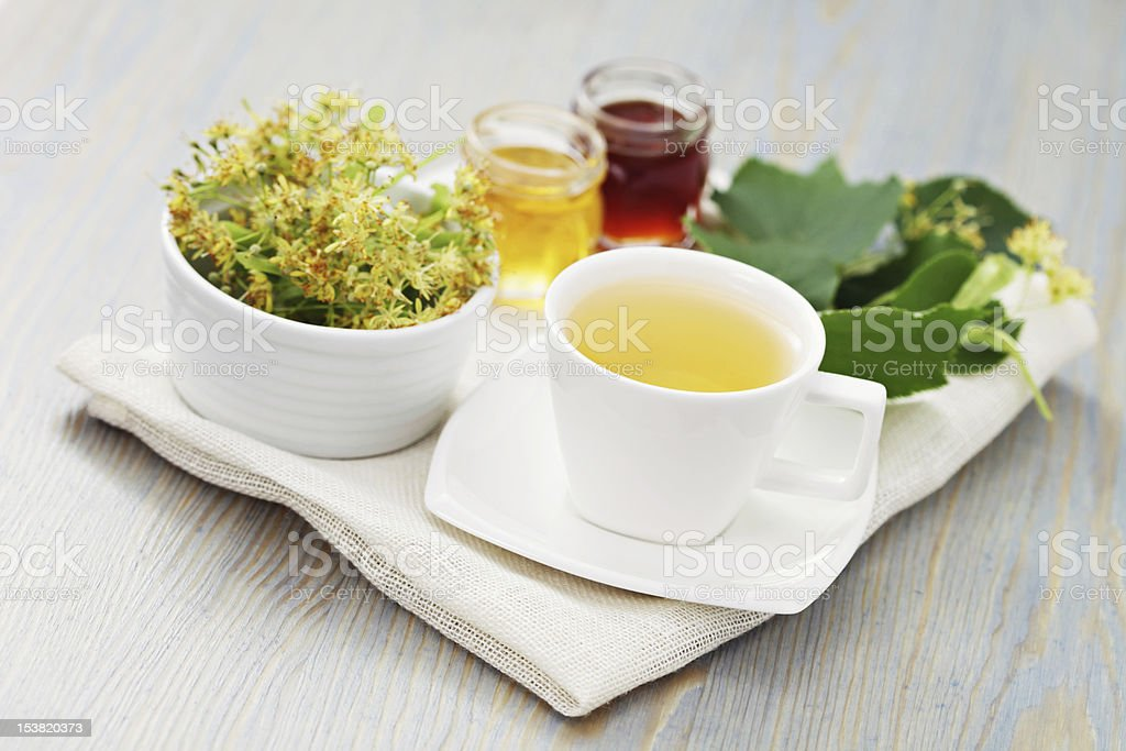 linden tea royalty-free stock photo