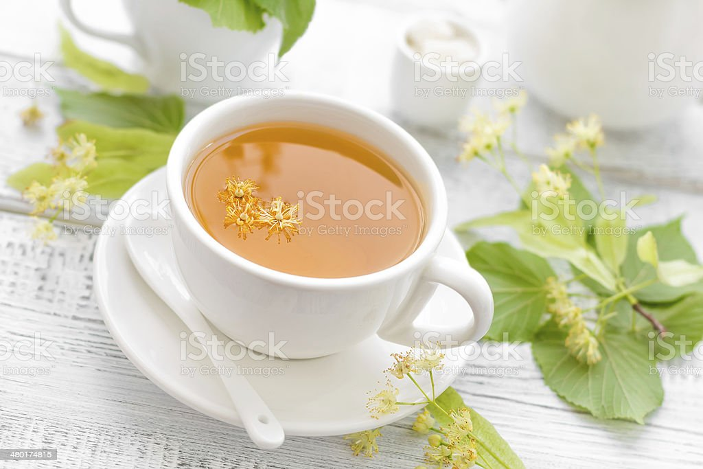Linden tea royalty-free stock photo