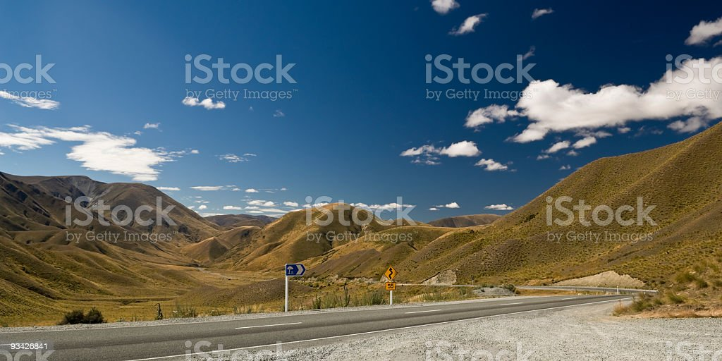 Lindis Pass Landscape royalty-free stock photo