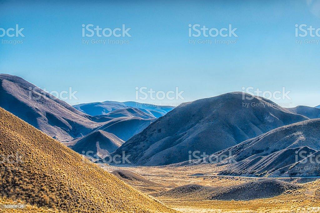 Lindis Pass stock photo