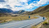 Lindis Pass view in south island,New Zealand.