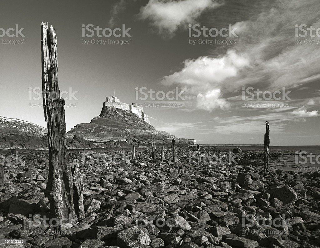 Lindisfarne castle, Northumberland stock photo