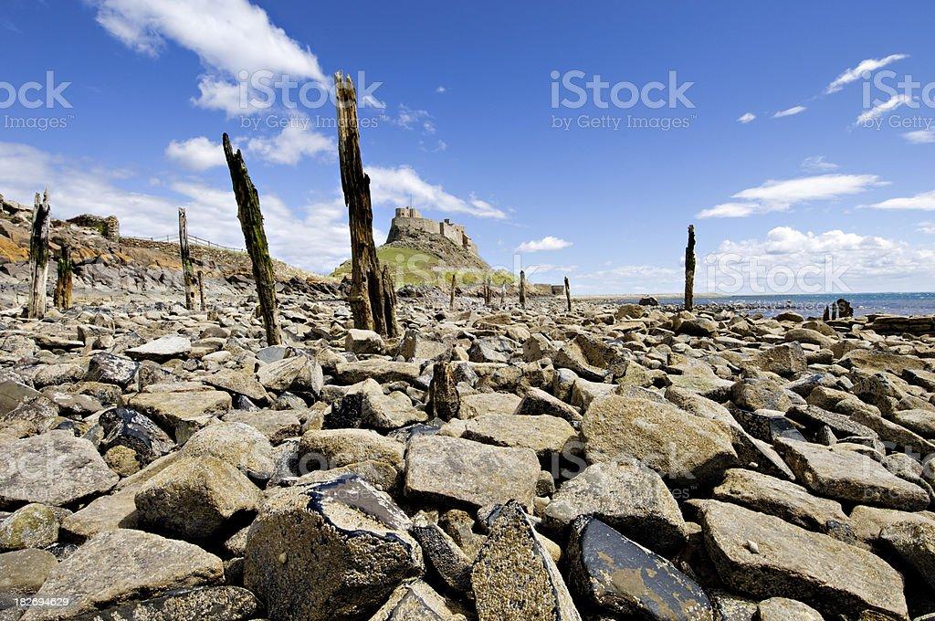 Lindisfarne Castle  Northumberland UK stock photo