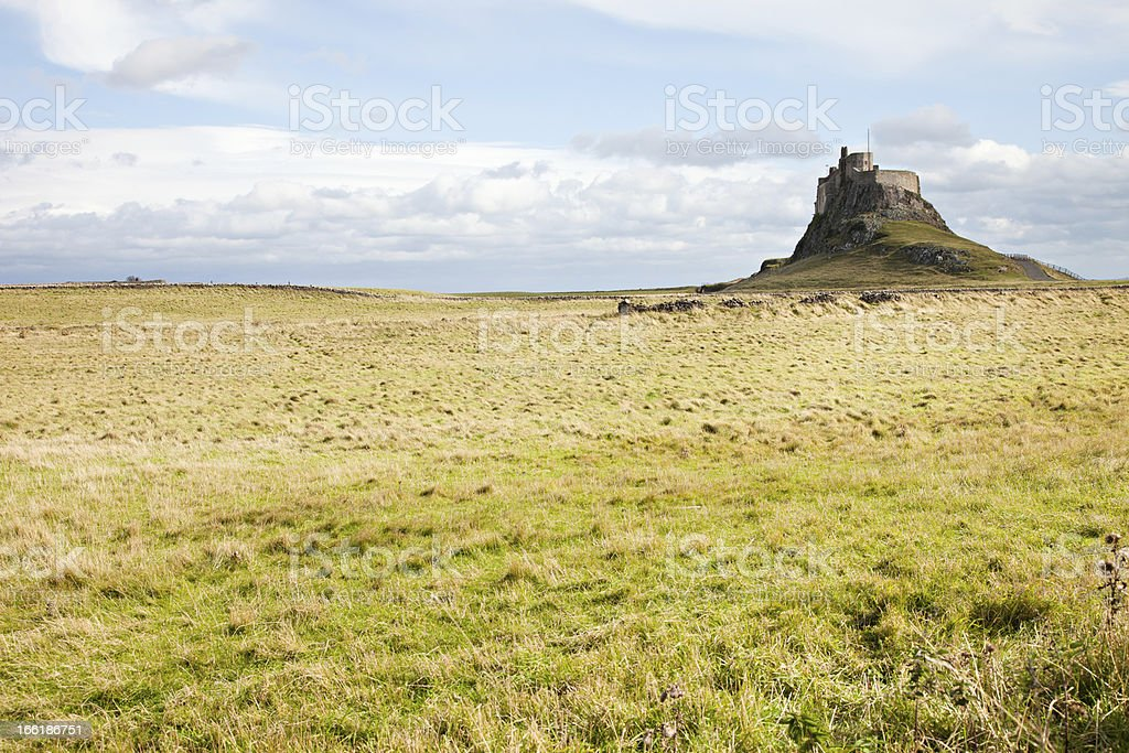 Lindisfarne Castle on Holy Island stock photo
