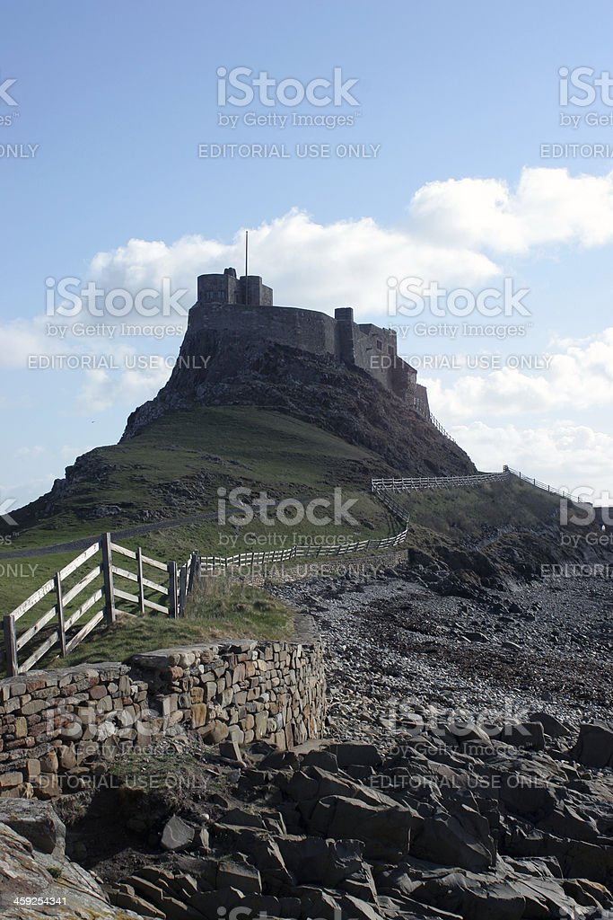 Lindisfarne Castle royalty-free stock photo