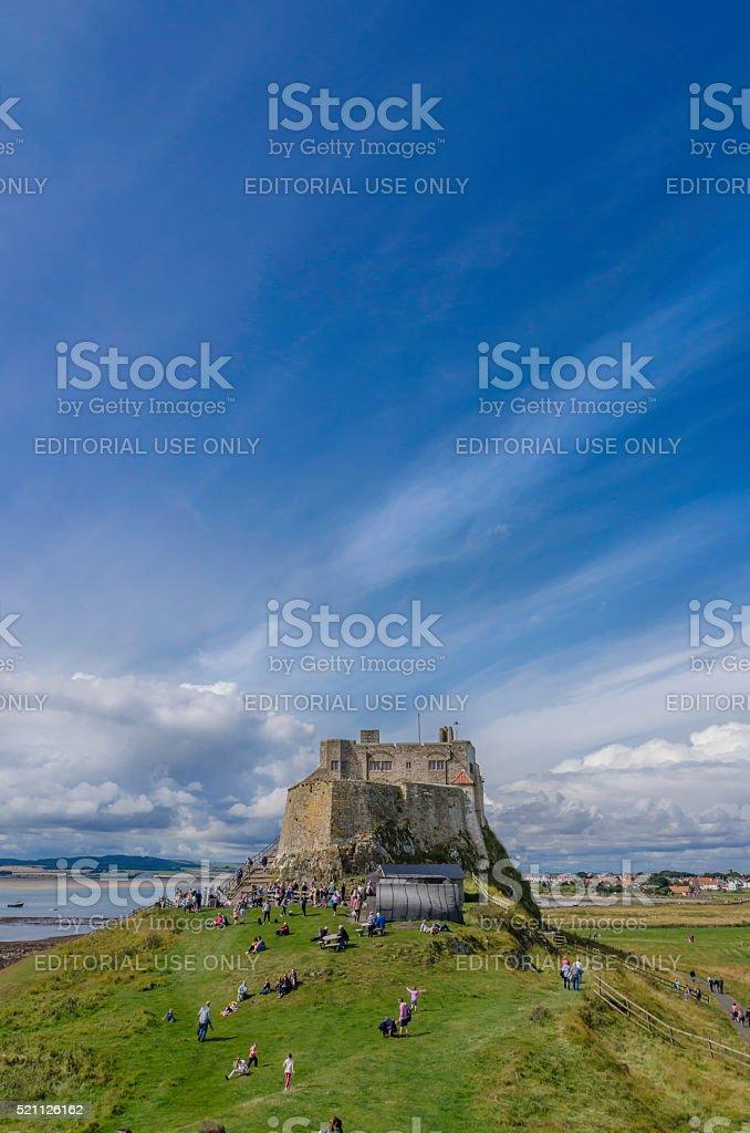 Lindisfarne Castle stock photo
