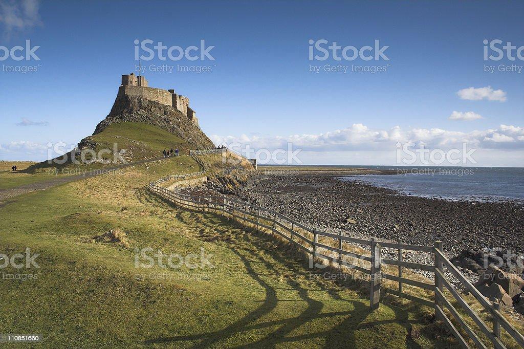 Lindisfarne stock photo