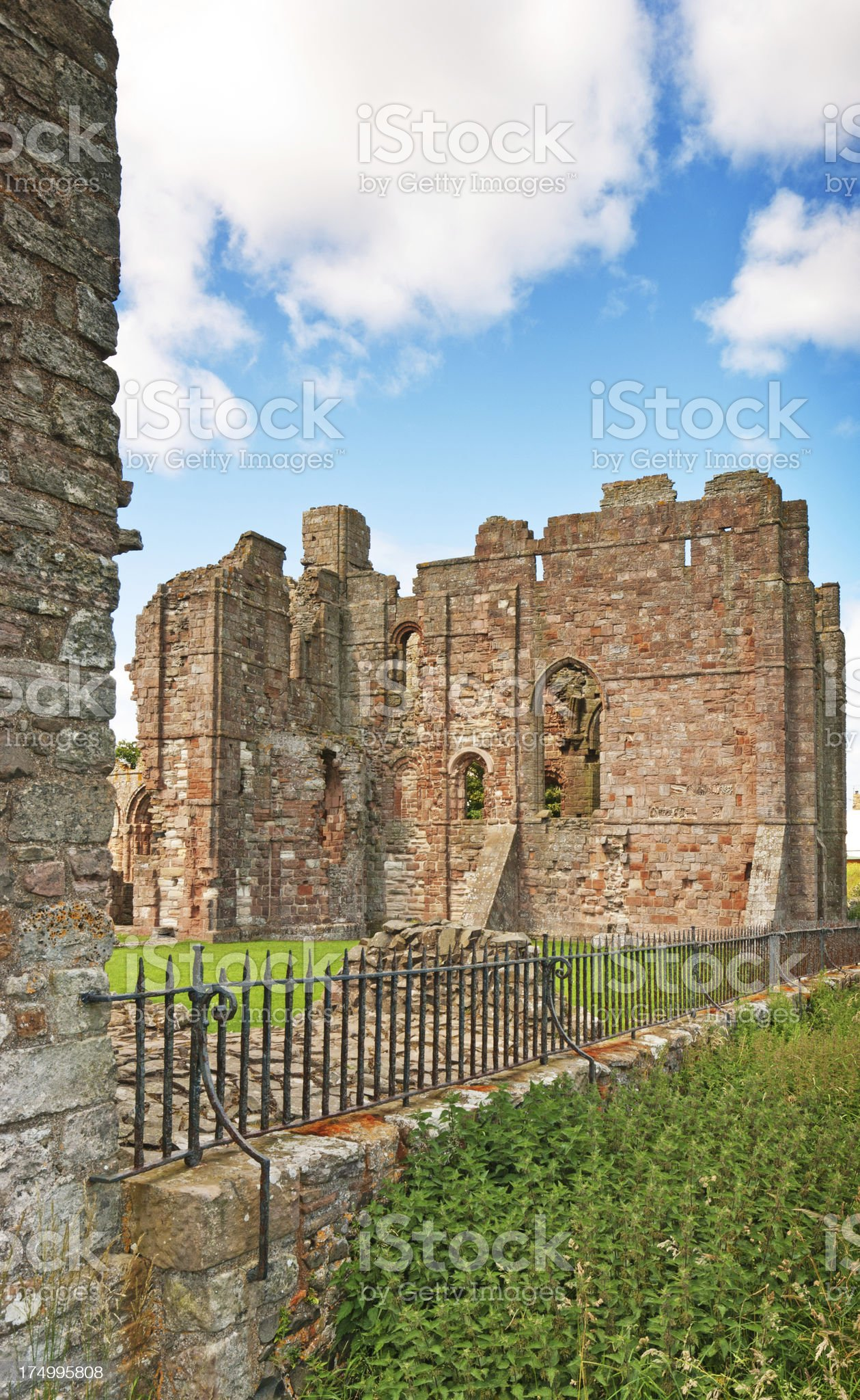 Lindisfarne Priory royalty-free stock photo