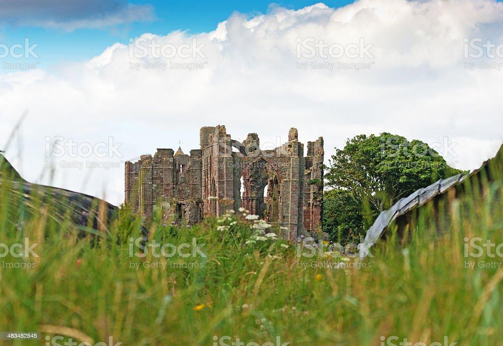 Lindisfarne Priory stock photo